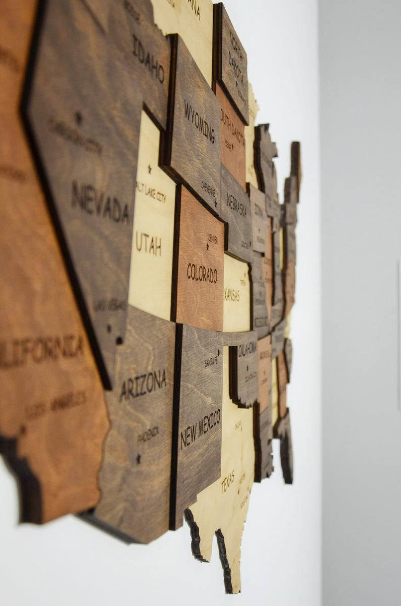 Map Of United States Push Pin Map Wood Wall Art Us Map Art Us Etsy In 2020 Map Wall Decor Wooden Map Wooden Wall Art