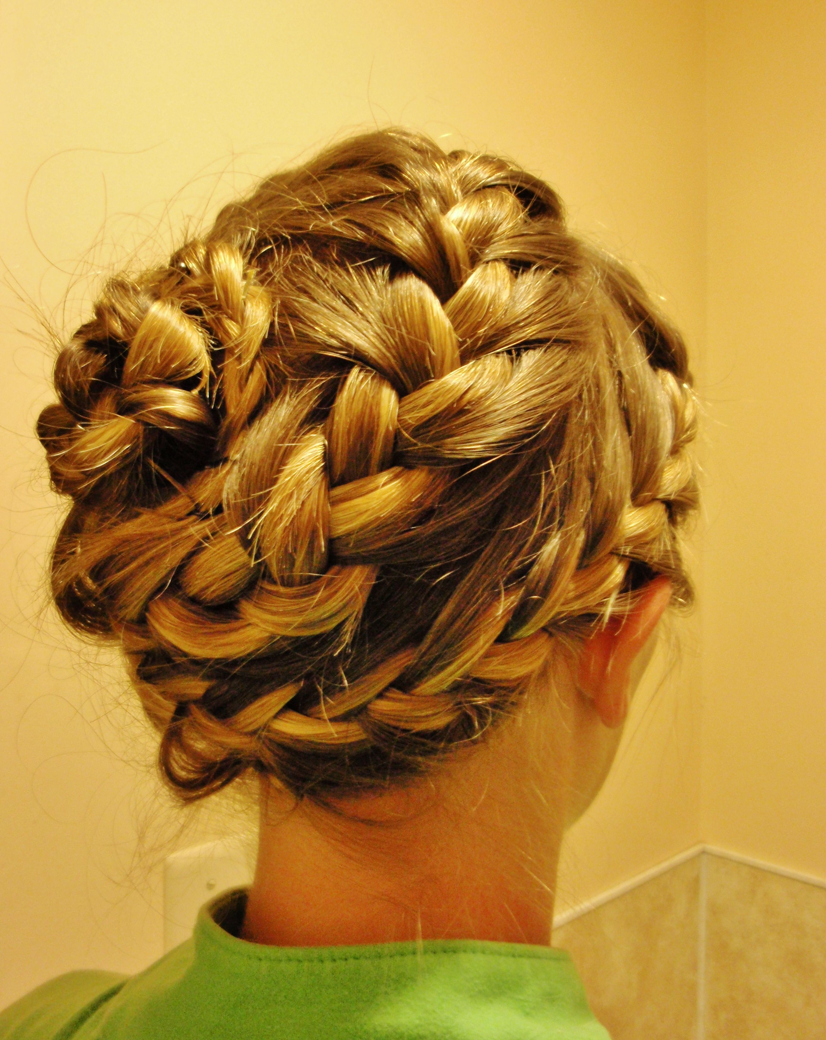 Spiral french braid over the entire head start at front making a spiral french braid over the entire head start at front making a big outside ccuart Choice Image