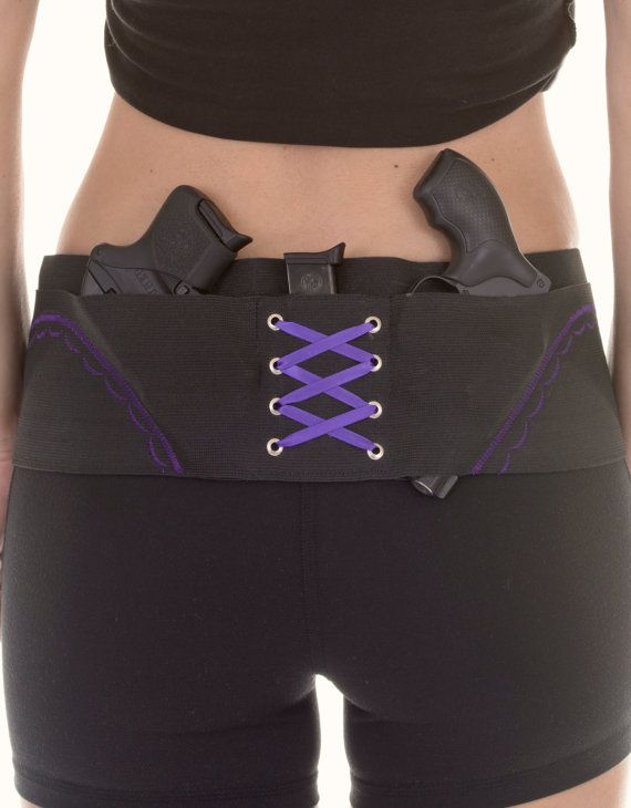 2954d223904ce5 Purple On Black Concealed Carry Hip Hugger Holster for Women Concealed  Carry Holsters, Gun Holster