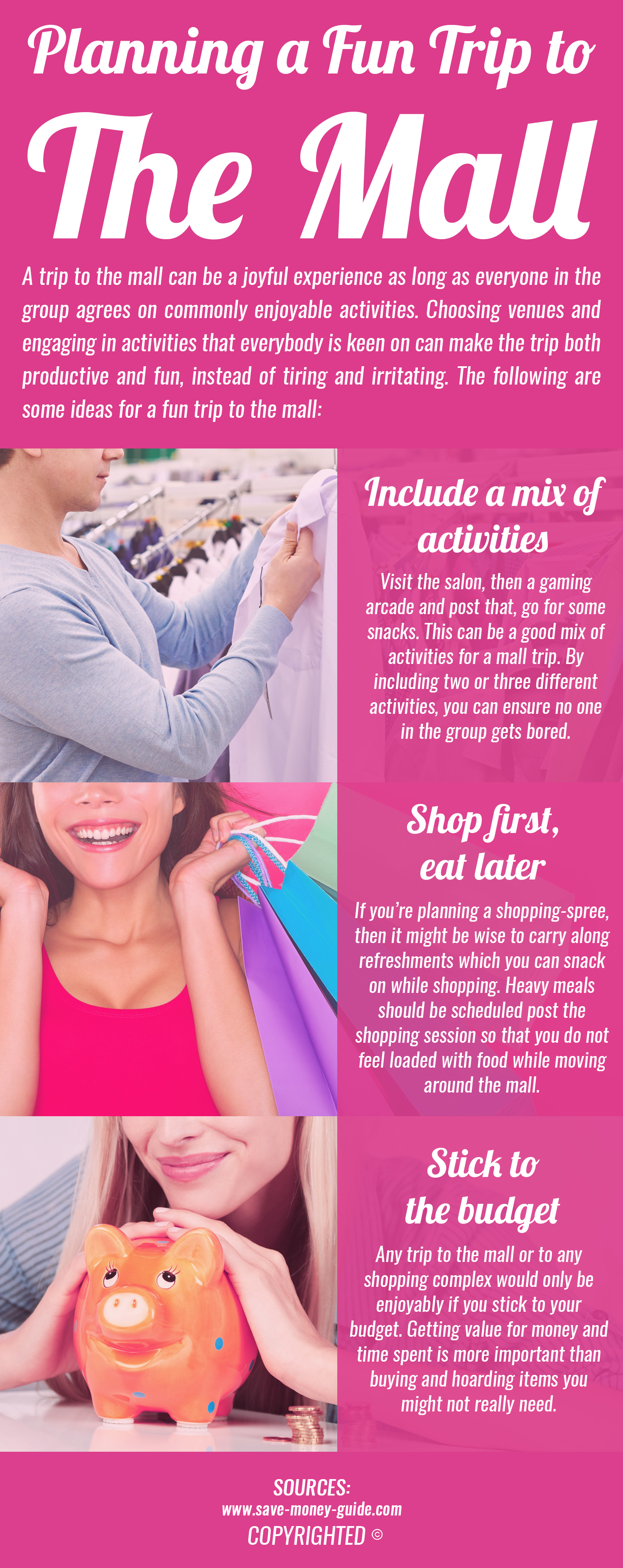 When Shopping By Yourself Or In A Group Plan Mall Trip With Care Your Spree