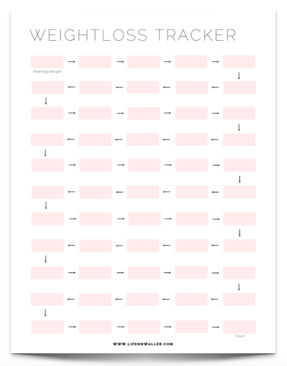 free printable fitness tracker bloggers supporting each other