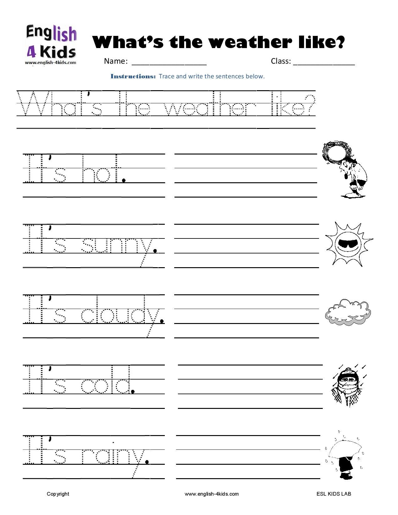 24++ Esl writing worksheets for kindergarten Images