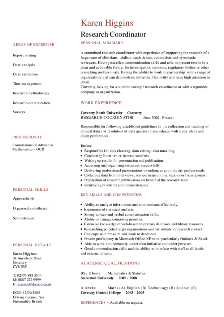 5+ Academic CV Templates Word (With images) Cv template word