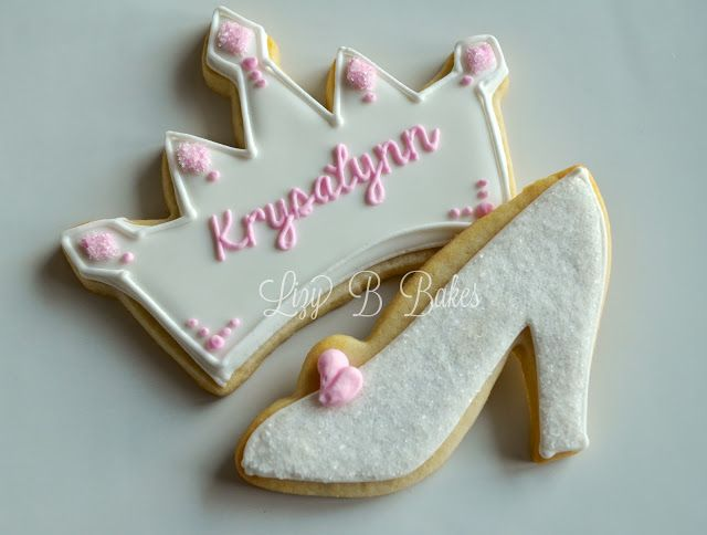 Lizy B: Bridal Shower Crown and Glass Slipper Cookies!