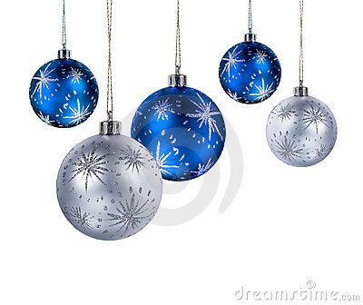 Blue silver Christmas balls by Hannu Viitanen, via Dreamstime Want ...