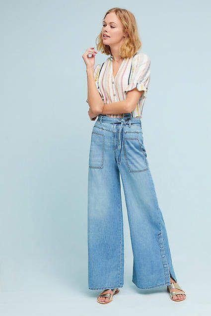 bad65214e16 Pilcro and the Letterpress Pilcro High-Rise Wide-Leg Jeans