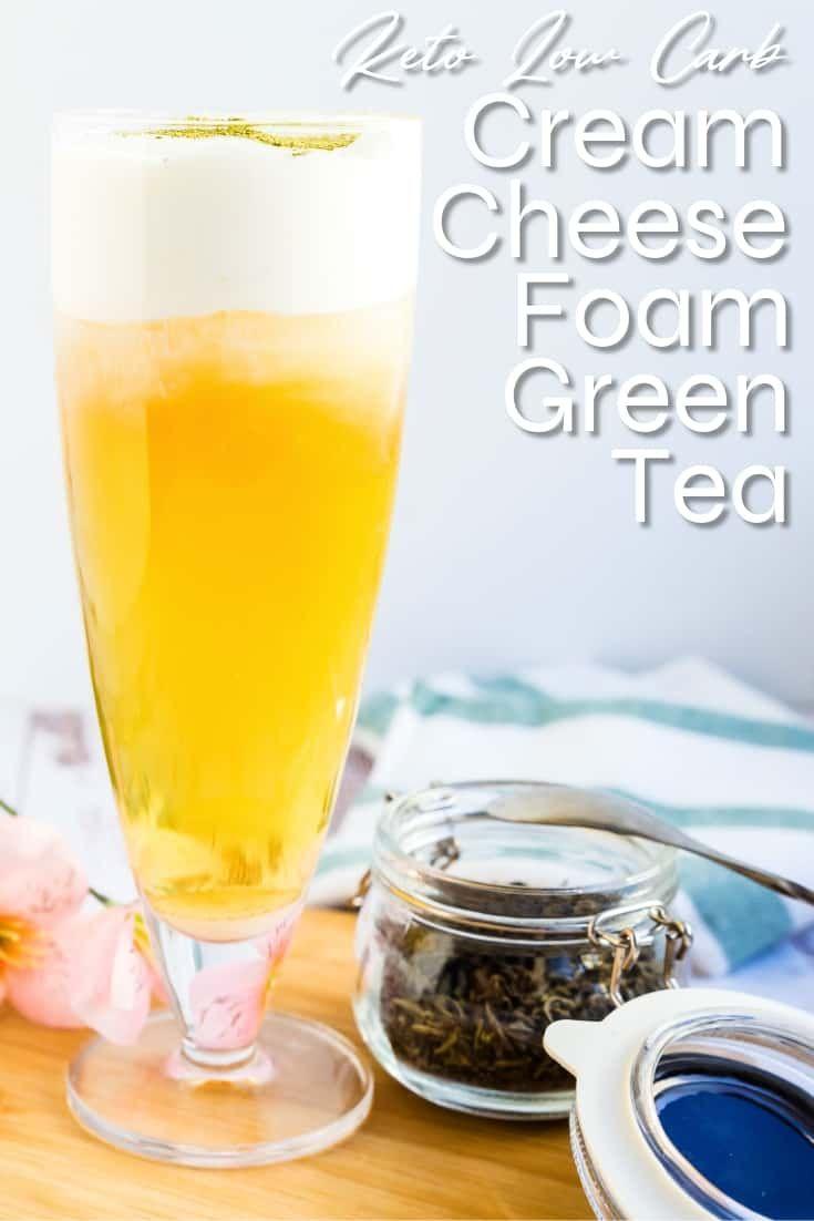 Photo of The Best Cream Cheese Foam Green Tea | LowCarbingAsian