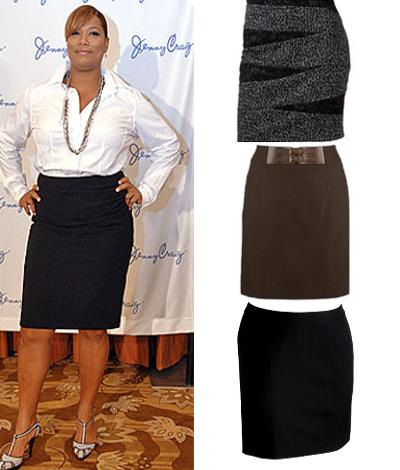 ebef91cb9 Modelos de faldas rectas para gorditas | Moda | Falda recta para ...