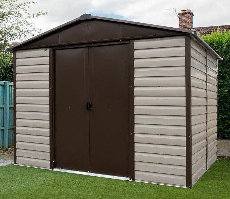 Yardmaster 10ft X 8ft Shiplap Metal Shed Metal Shed Building A Shed Shed