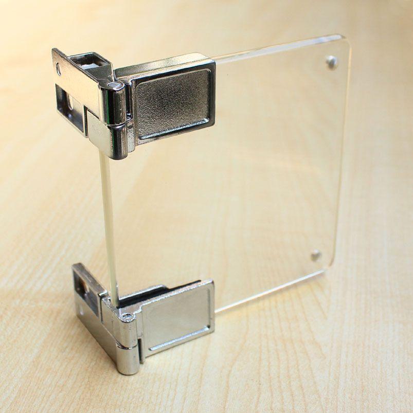 Glass Cupboard Cabinet Door Clamp Hinge Chrome Door Clamp Clamp