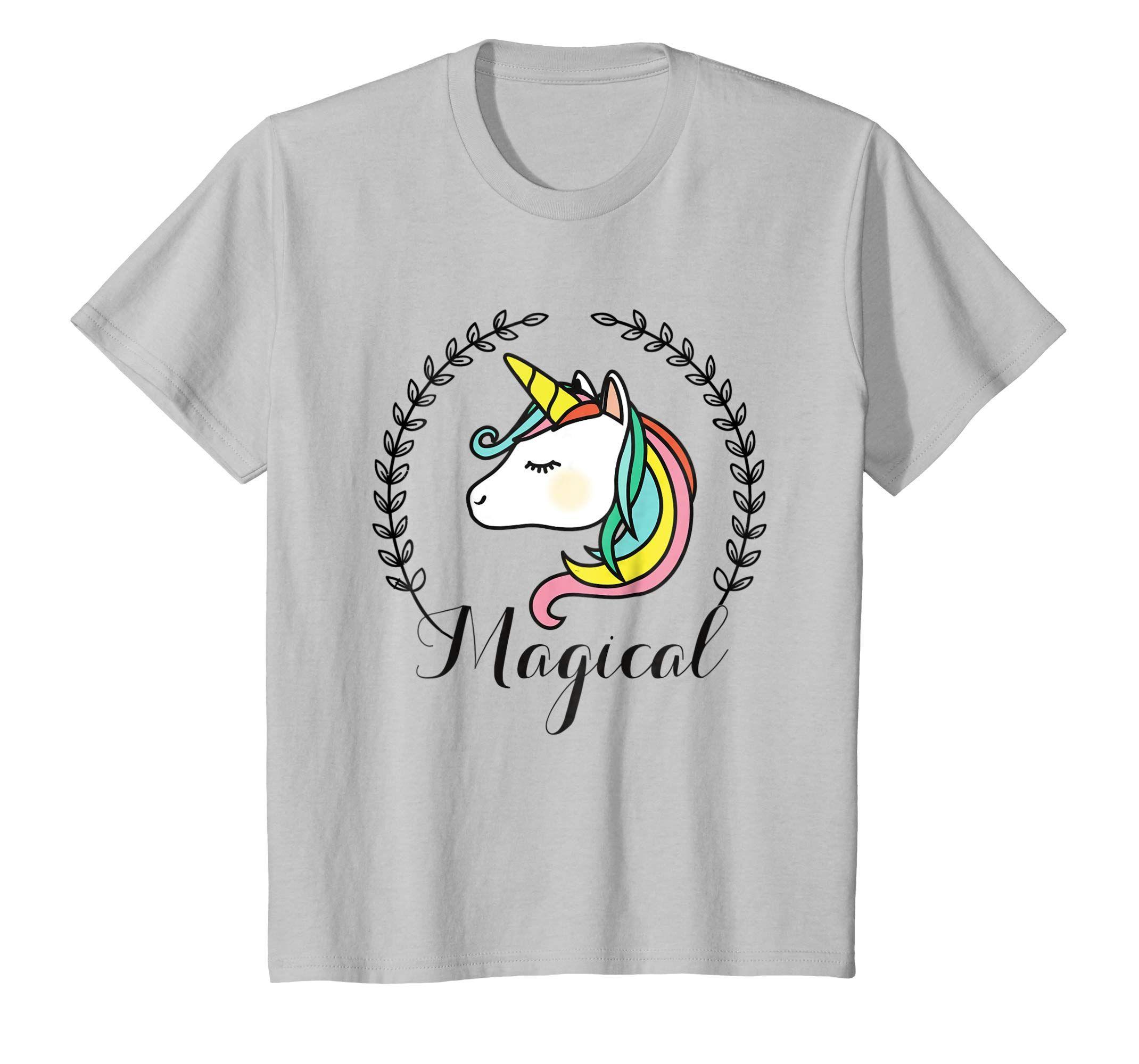 Kids Unicorn Shirt for Girls Birthday Apparel