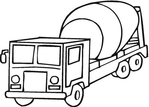 Cement Mixer Coloring Page Free Printable Coloring Pages Truck Coloring Pages Cars Coloring Pages Super Coloring Pages