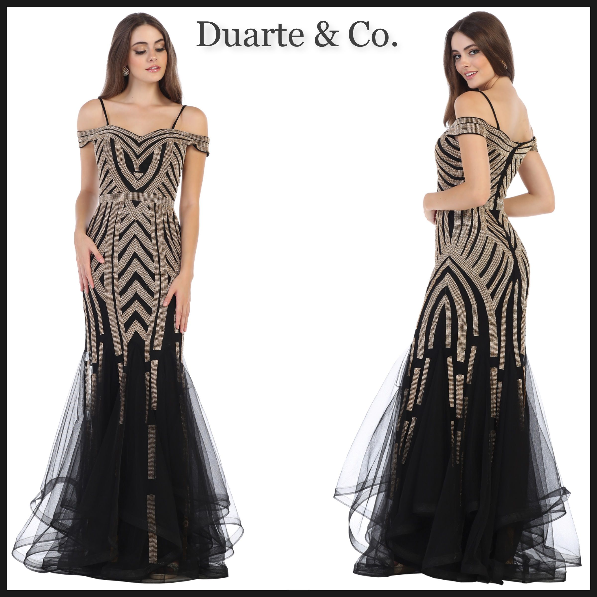 Cold shoulder party dress wplus sizes dc prom ball gowns