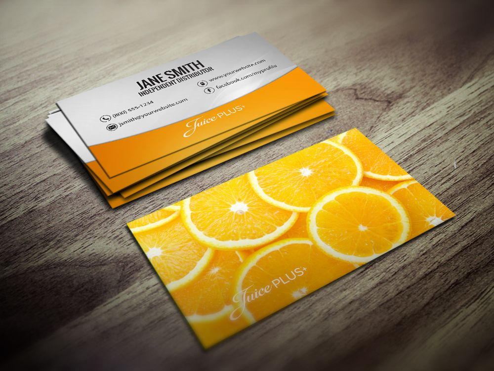 Juice plus business cards juiceplus pinterest business cards juiceplus business cards in oranges colourmoves