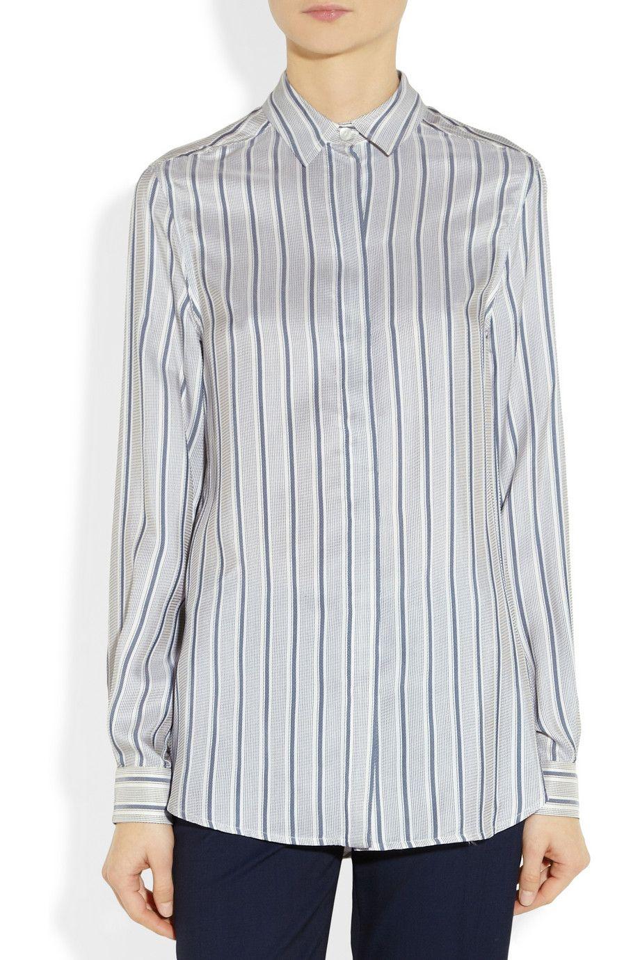 Gucci|Marine striped silk shirt|NET-A-PORTER.COM