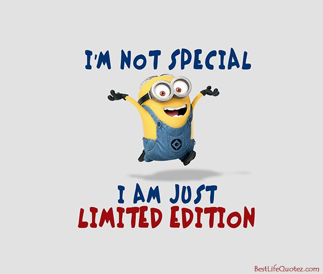 I Am Just Limited Edition Minion Attitude Quotes Fb Profile