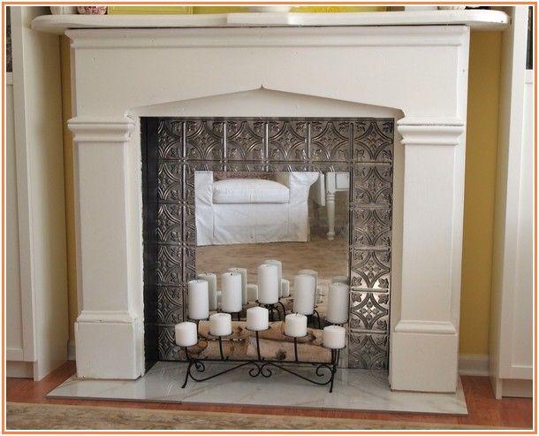 Gorgeous Faux Fireplace Mantel Ideas