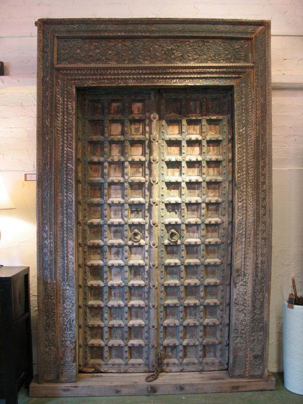 Blog Teak Wood Main Door Design In India: Antique Indian Door Carved Teak Door From Haryana