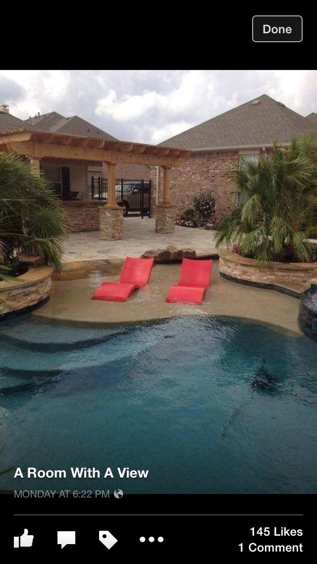 Pool With Lounge Chairs Dream Backyard Backyard Pool Outdoor Chaise