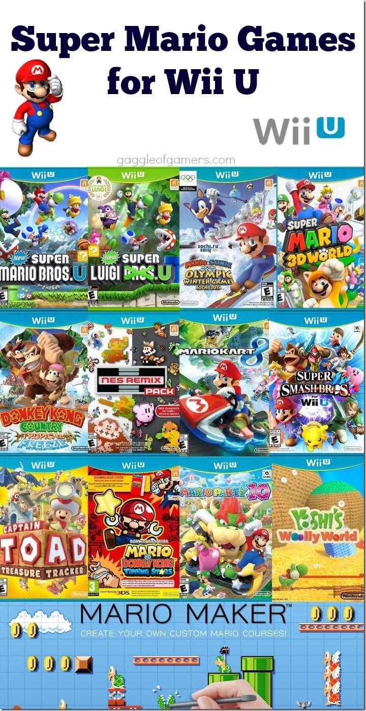 All Wii U Games : Super mario games for wii u video pinterest