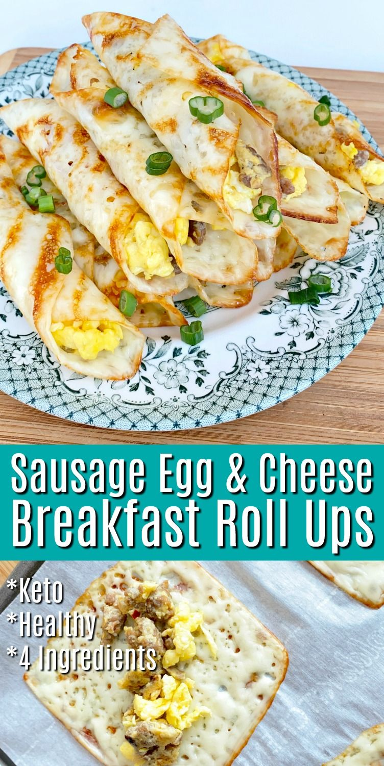 Photo of Sausage Egg & Cheese Breakfast Roll Ups
