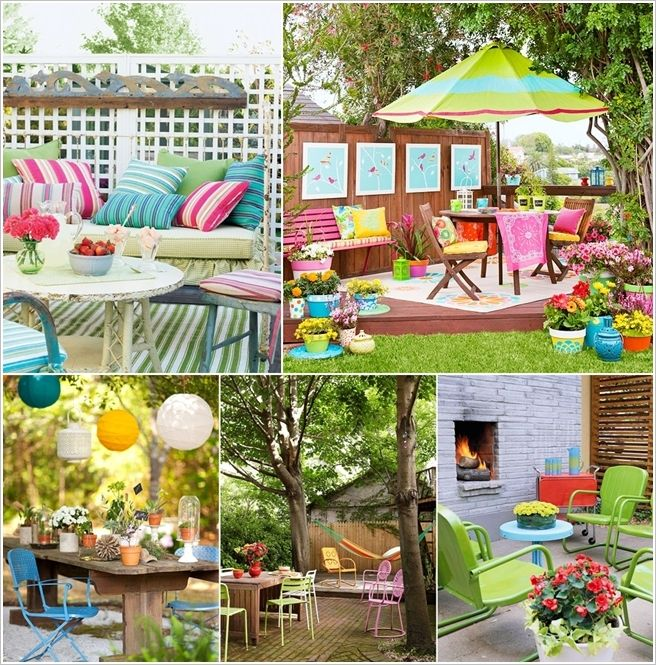 Colorful Outdoor Deck Decorating Ideas: Design A Spring Ready Happy And Colorful Patio