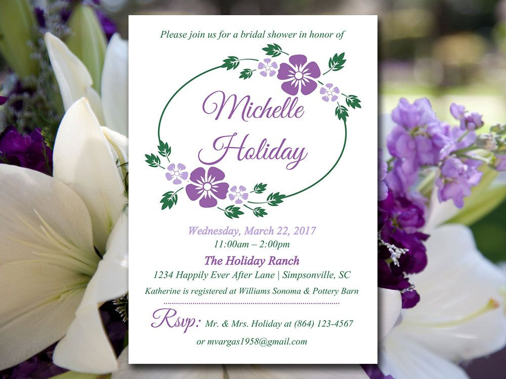 Bridal Shower Template Bridal Shower Invitation Template  Wedding Shower Template .