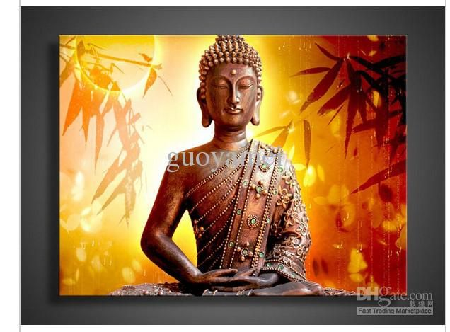 Awesome Cheap Oil Painting   Best Religion Buddha Wall Art Oil Painting On Canvas  Online With $51.31