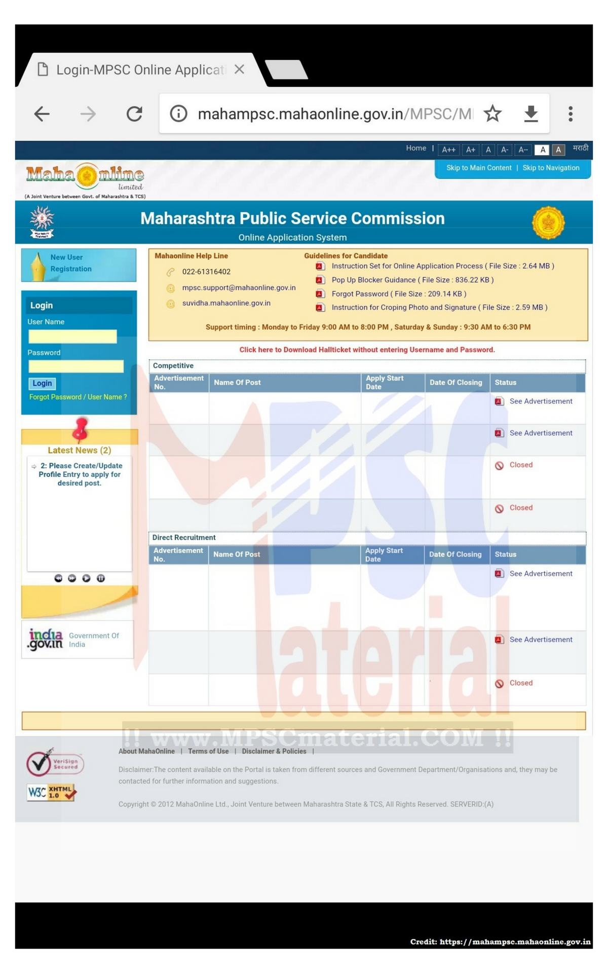 Overview How to create account in MPSC online Online