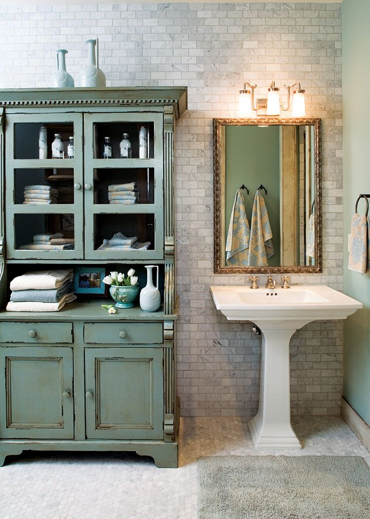 Cabin Charm Meets Cottage Style - Cottage Journal  Bathroom sink