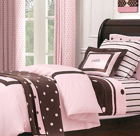 pink and brown bedroom | if i'd a had a girl | pinterest