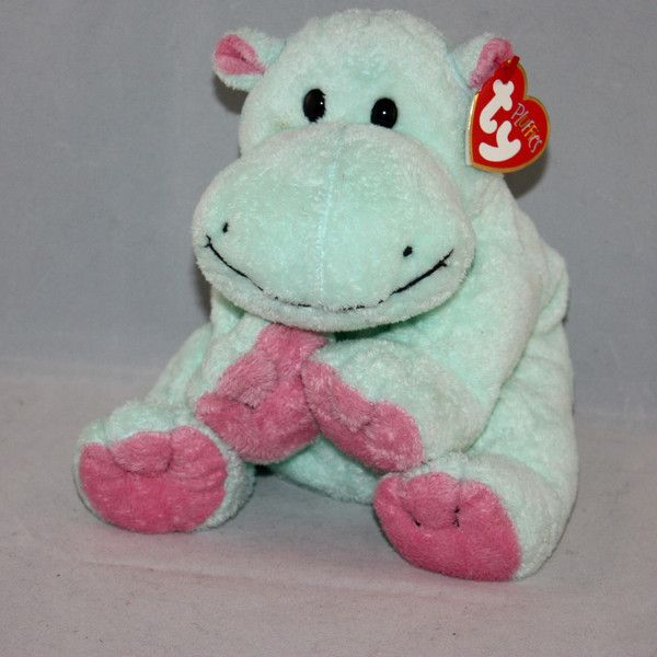 7d5e1d4fc1f 2002 Ty Pluffies Tubby the Hippo Plush Beanie Babies