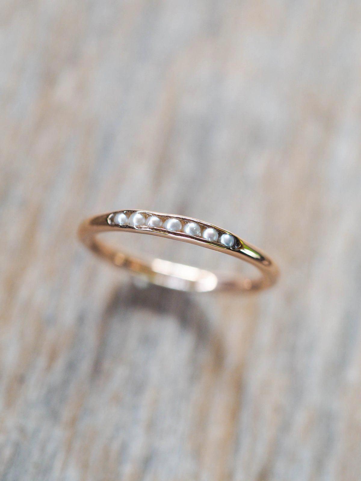 Moonstone engagement ring white gold vintage engagement