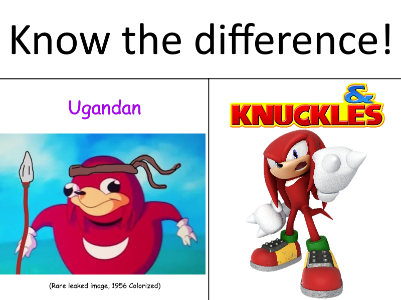 Know The Difference Sheeple Ugandan Knuckles Funny Memes Stupid Funny Memes Memes