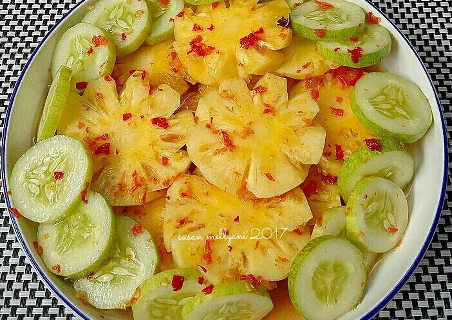 Resep Asinan Nanas Oleh Susan Mellyani Resep Resep Resep Makanan Makanan Dan Minuman