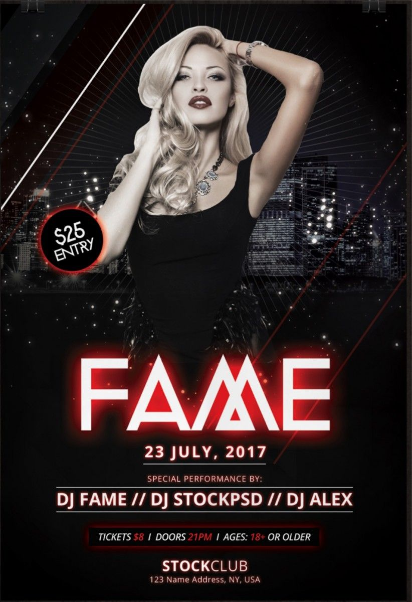 Fame Download Free Psd Photoshop Flyer Template Free Flyer