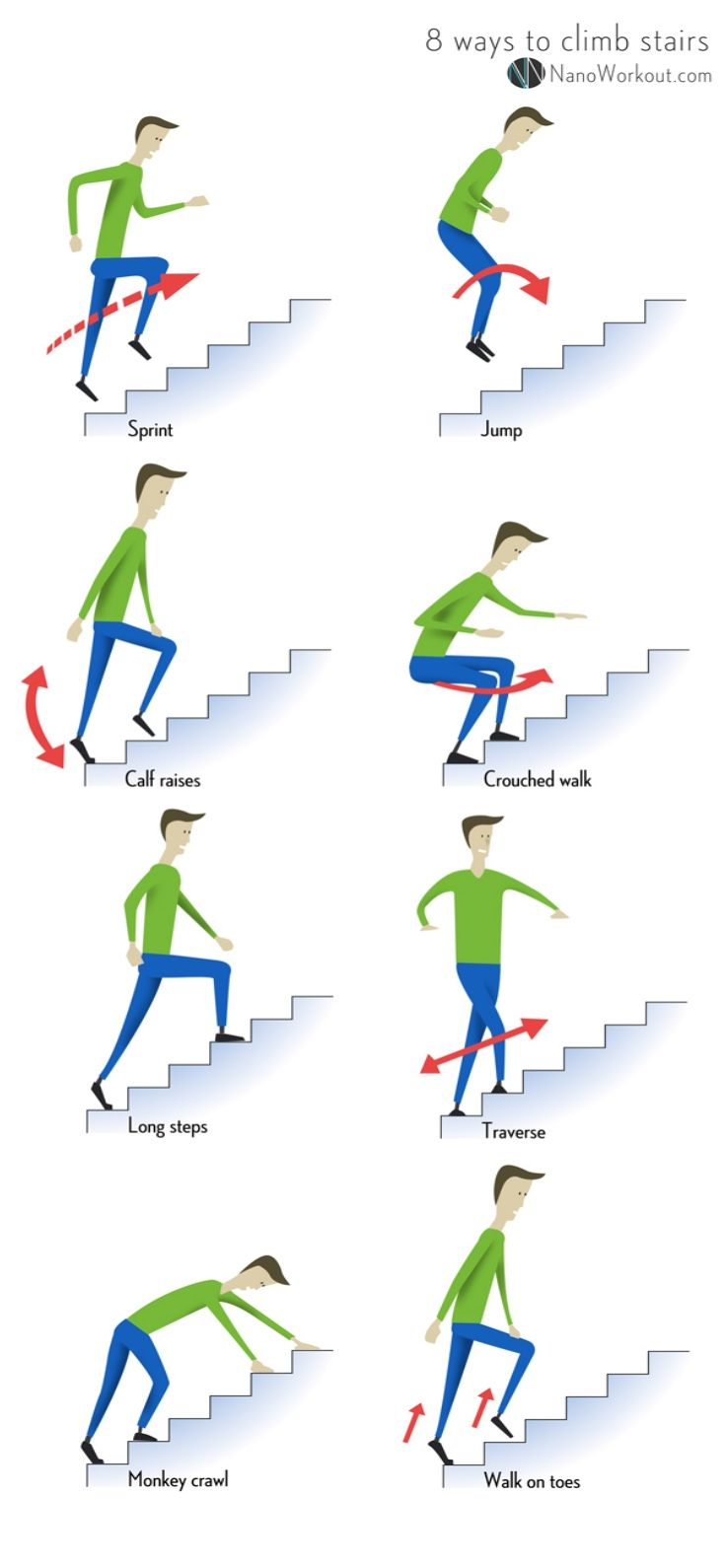 Climbing Stairs Workout