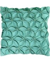 Rizzy Home Decorative Floral Throw Pillow Turquoise