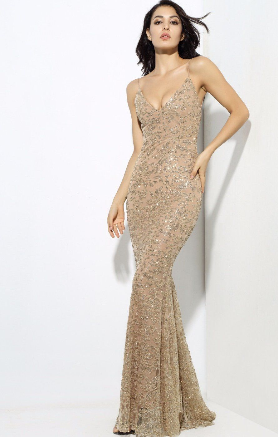 Sweet delight gold glitter plunge maxi gown dress maxi gowns gold