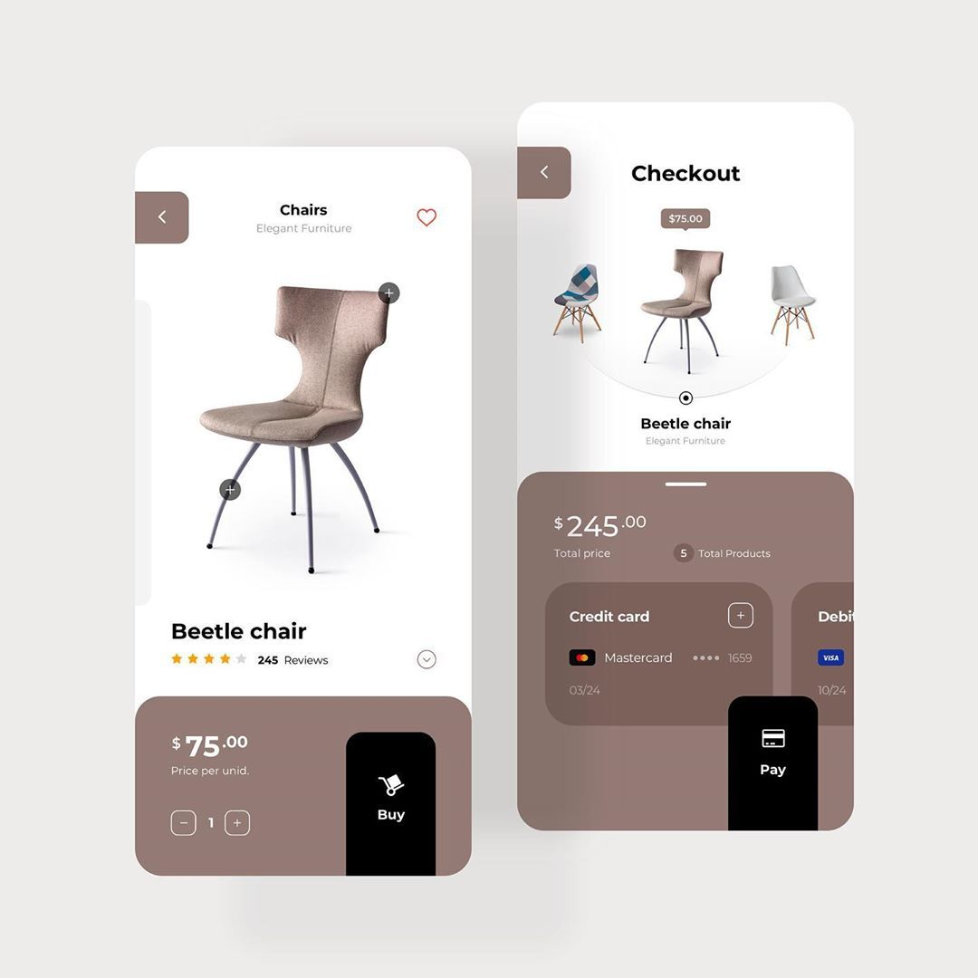 "Angel Villanueva ⚡️ on Instagram: ""eCommerce Forniture App Concept • 🏀Dribbble.com/sogaso • #ui #ux #uidesign #uiapp #uxdesign #interaction #interactiondesign #uiinspiration…"""