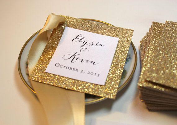 Gold Wedding Favor Tags Monogram By Rchidinvites