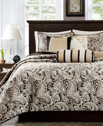 Madison Home Usa Aubrey 5 Pc King Bedspread Set Bedding Luxury