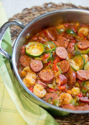 Spicy Sausage And Shrimp Skillet Paleo Delicious Meets Healthy Mediterranean Recipes