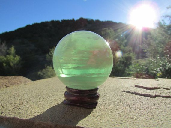 Fluorite Sphere  Green Chinese Fluorite  45mm by SequoiasRoots