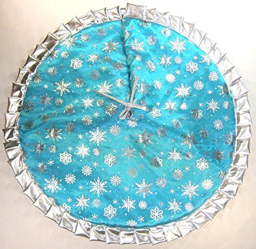 Aqua Christmas Tree Skirt: Christmas Tapered Pencil Tree Skirt 30 Icy Turquoise With