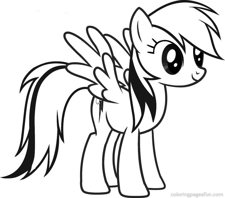 My Little Pony Friendship Is Magic Coloring Pages Rainbow Dash ...