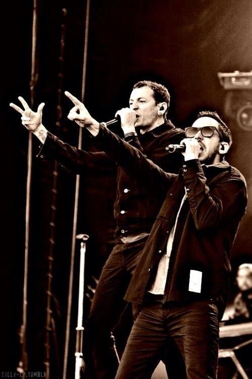 """Great pic. Chester and Mike. """"Benoda"""""""
