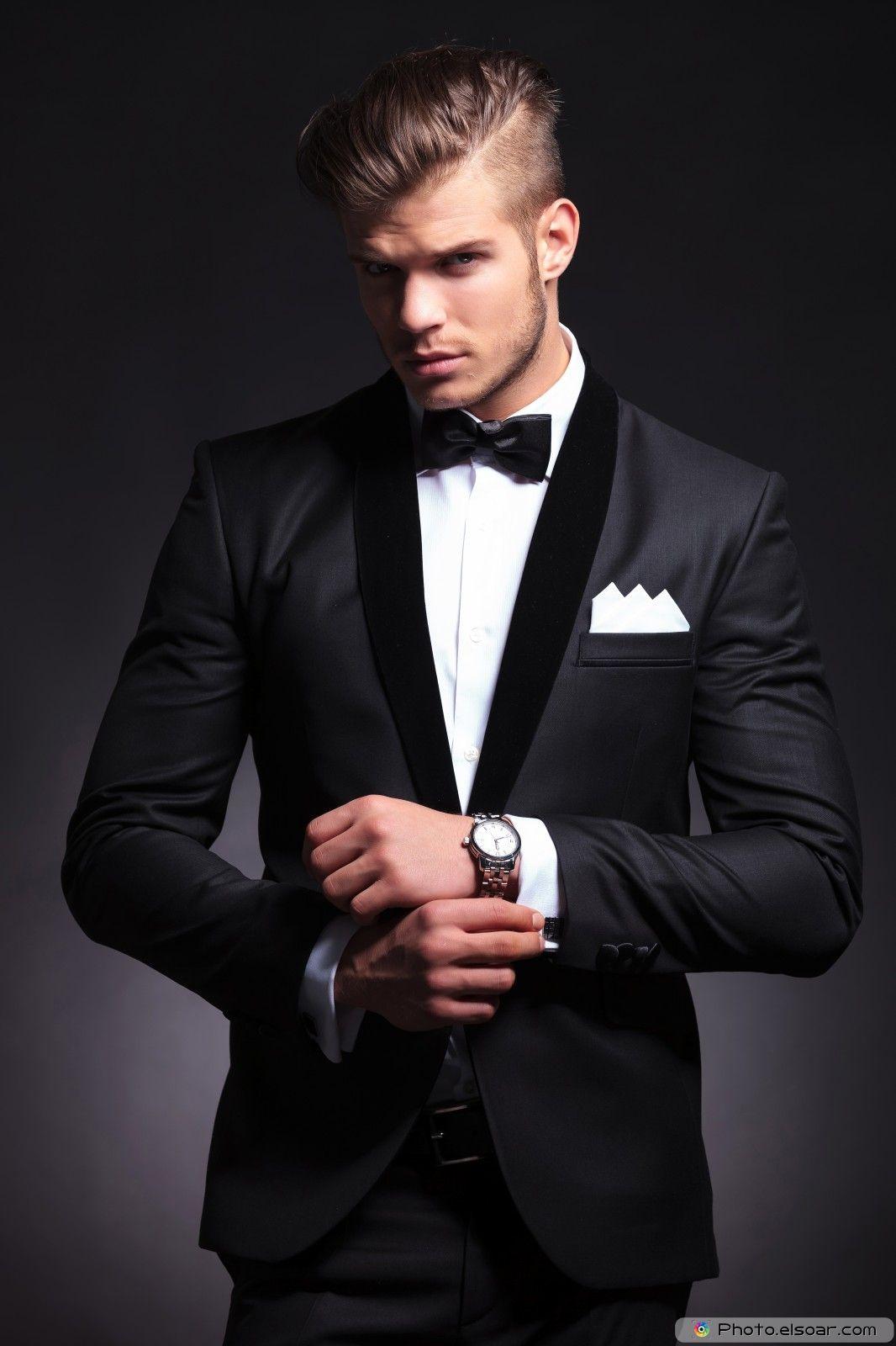 Elegant Young Fashion Man in Tuxedo  3d6db16f185a