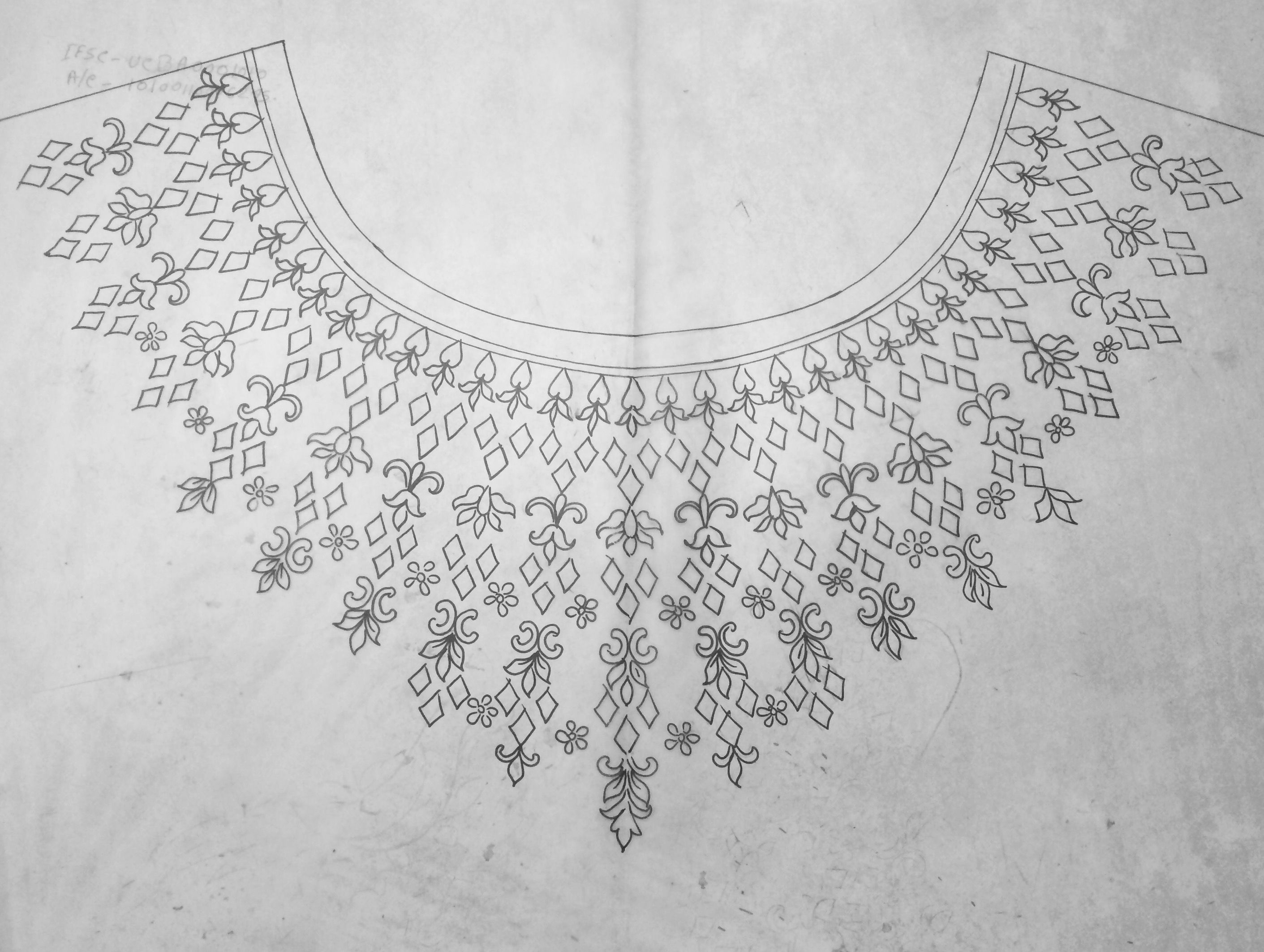 Yoke design | embroideries | Embroidery designs, Embroidery ...
