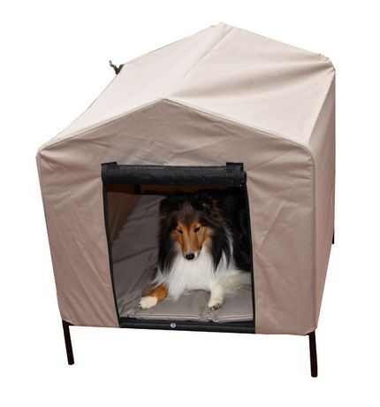 40 L Soft Sided Folding Dog Pet House Crate Elevated Dog Bed